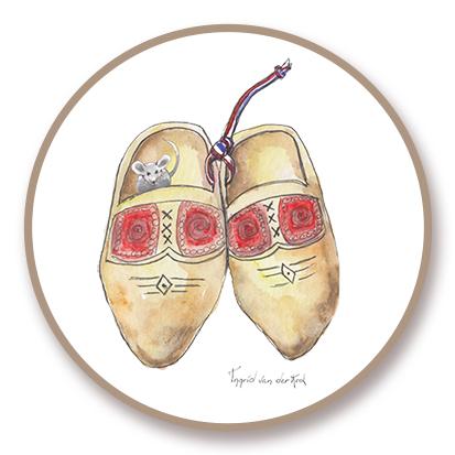 Sticker Hollands klompjes, Ingrid van der Krol