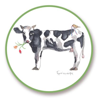 Sticker Hollands koe, Ingrid van der Krol
