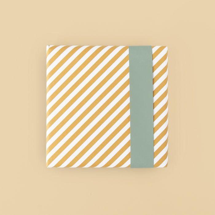 Cadeaupapier geel streep, HOP