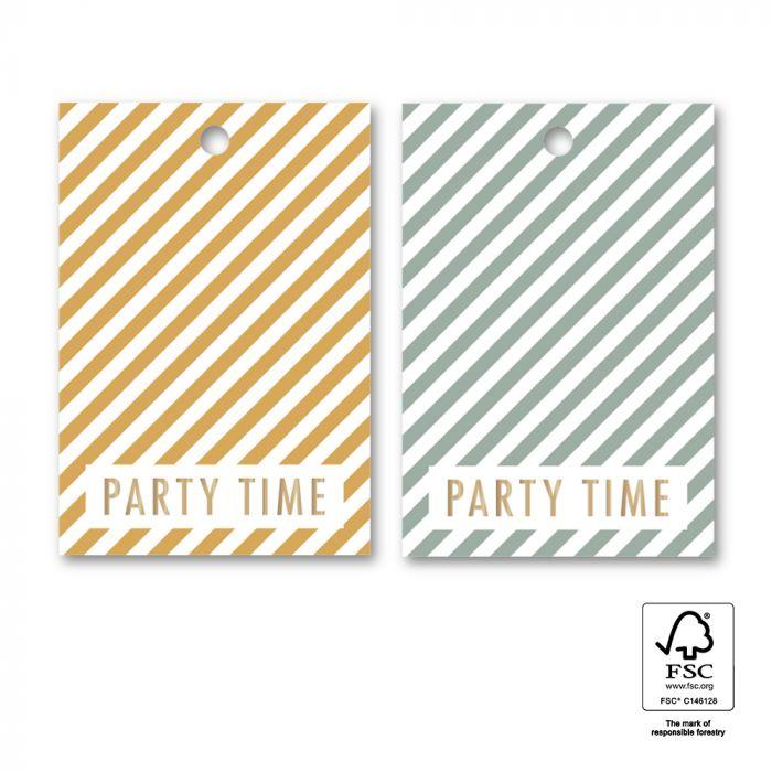Minikaartje of tag partytime streep, HOP