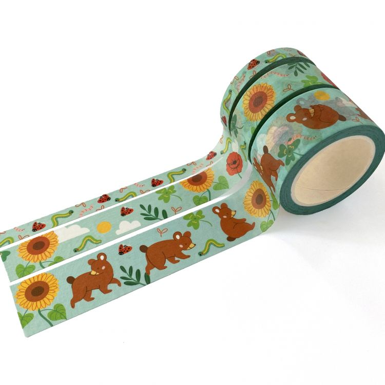 Set maskingtape – Summer bear, Mila-made