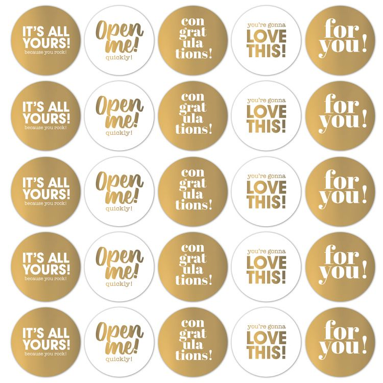 Sticker Summer vibes goud rond (CWH)