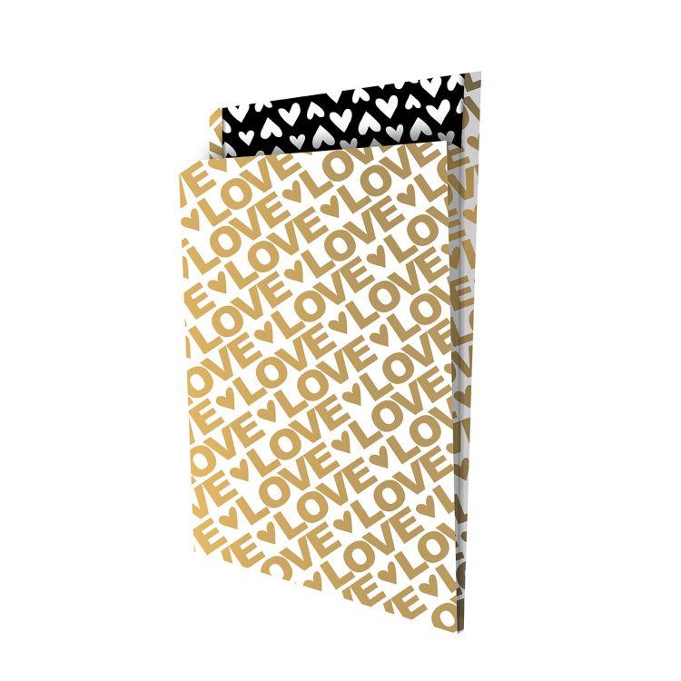 Tijdschriften zak love goud (groot)(CWH)
