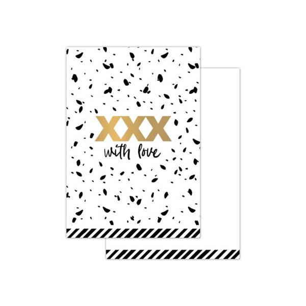 Mini kaart XXX-with love (CWH)
