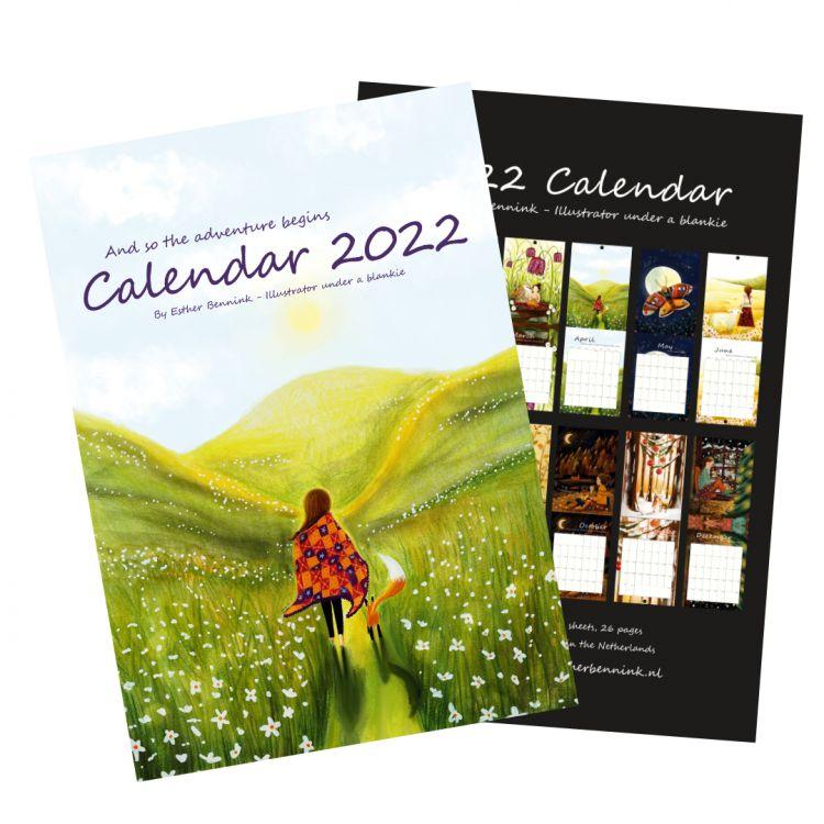 PRE-ORDER:, Kalender 2022, Esther Bennink