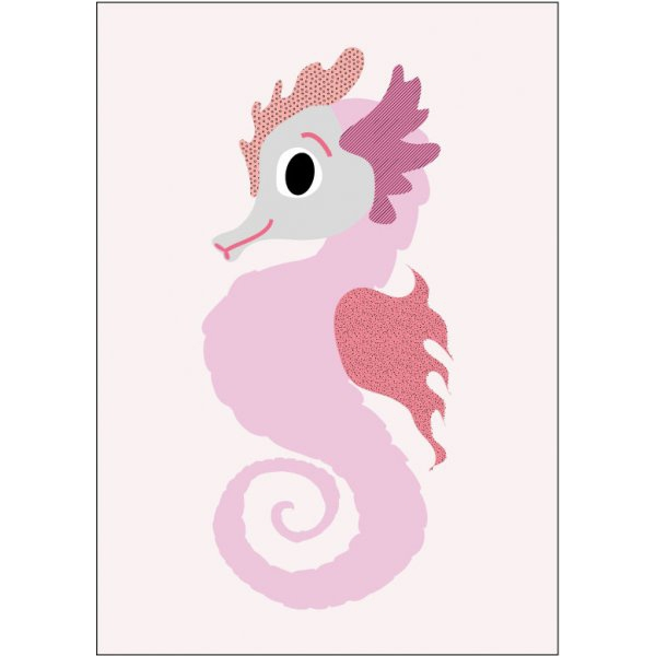 Sparkling Paper poster A3, Rose zeepaardje