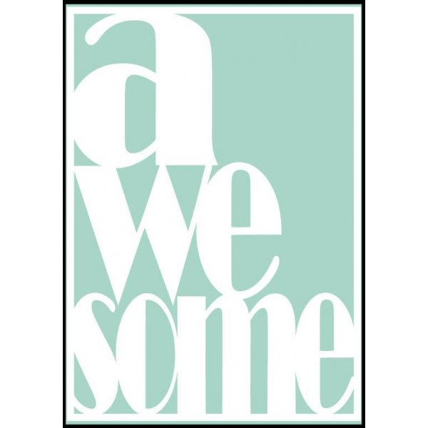 Sparkling Paper poster A3, Awesome mint