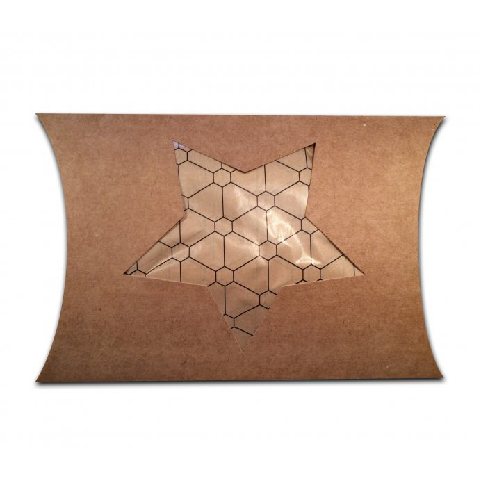 Pillowbox craft met uitsparing ster