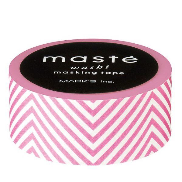 Rose met witte streepjes maskingtape van Masté