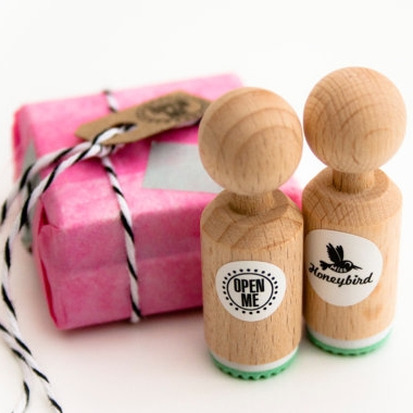 "Mini stempel ""open me"", Miss Honeybird"