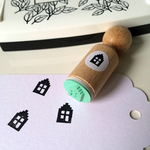 Mini stempel huisje, Miss Honeybird