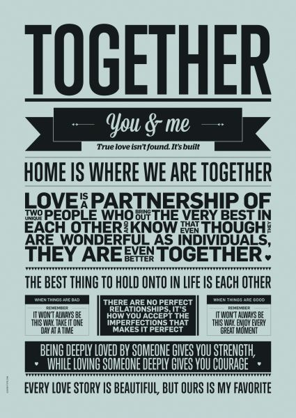 Together A3 poster, I LOVE MY TYPE