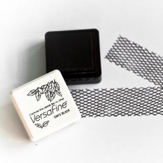 Stempelkussen zwart Versafine mini