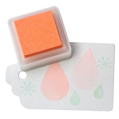 Stempelkussen Seashell Versacolor mini (zacht oranje)