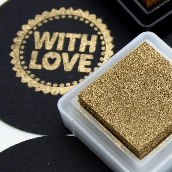 Encore goud metallic stempelkussen klein