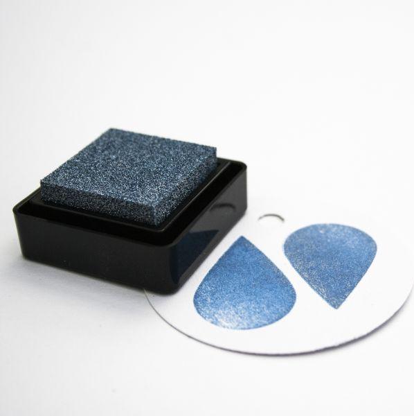 Encore blauw metallic stempelkussen klein