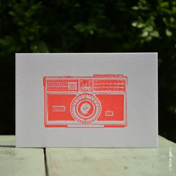 Camera kaart Kodak Instamatic Letterpers
