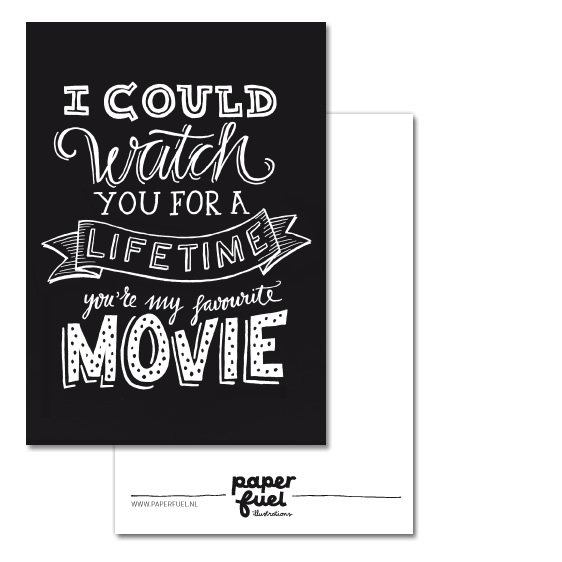 Favourite movie A6 kaart Paperfuel