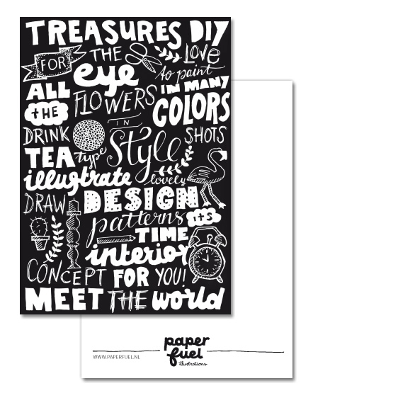 Treasures for the eye A6 kaart Paperfuel