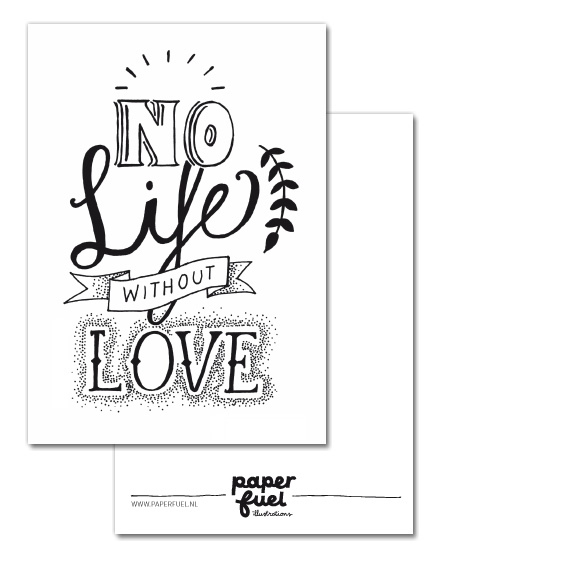 No life without love A6 kaart Paperfuel