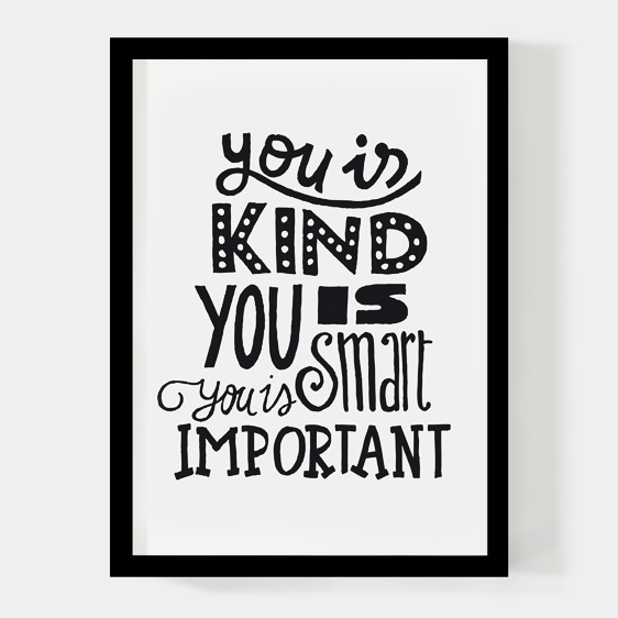 You is kind A4 poster Paperfuel