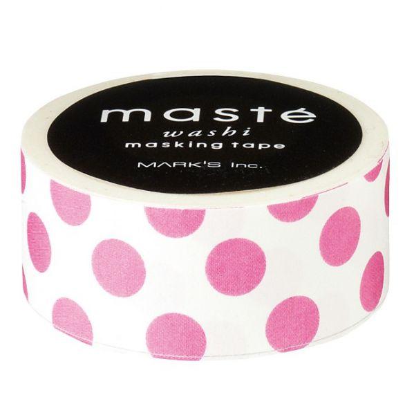 Wit met rose polokadot maskingtape Masté