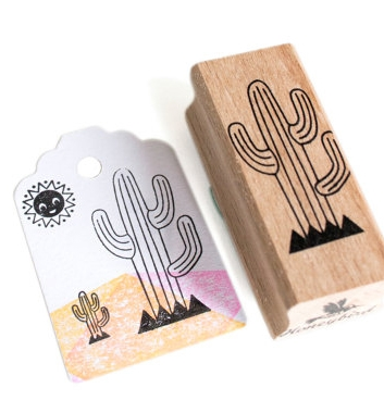 Stempel cactus (lijntjes) Miss Honeybird