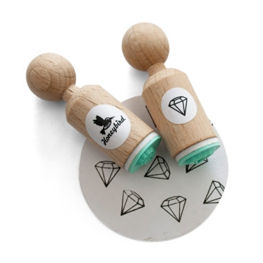 Mini stempel diamant Miss Honeybird