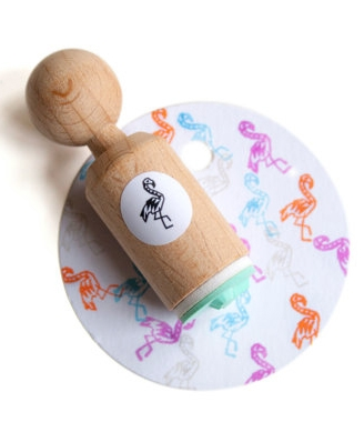 Mini stempel flamingo Miss Honeybird