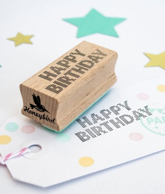 Stempel Happy Birthday Miss Honeybird