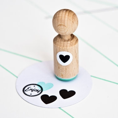 Mini stempel hartje Miss Honeybird