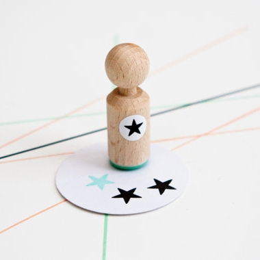 Mini stempel ster, Miss Honeybird