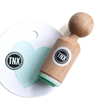 "Mini stempel ""TNX"", Miss Honeybird"