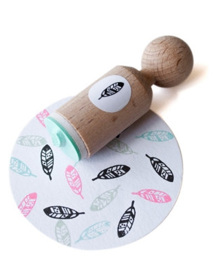 Mini stempel veer, Miss Honeybird