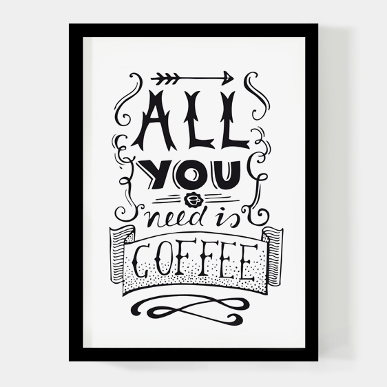 All you need is coffee, A4 poster Paperfuel