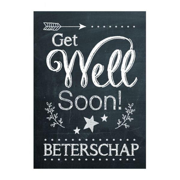 Get Well Soon beterschapskaart BDDesigns