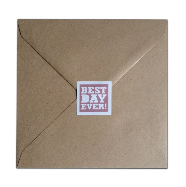 Losse kraft envelop vierkant 155x155mm