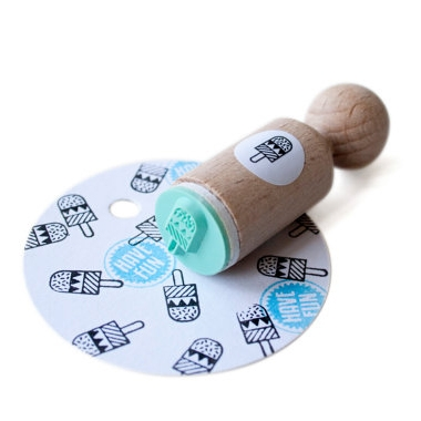 Mini stempel ijsje, Miss Honeybird