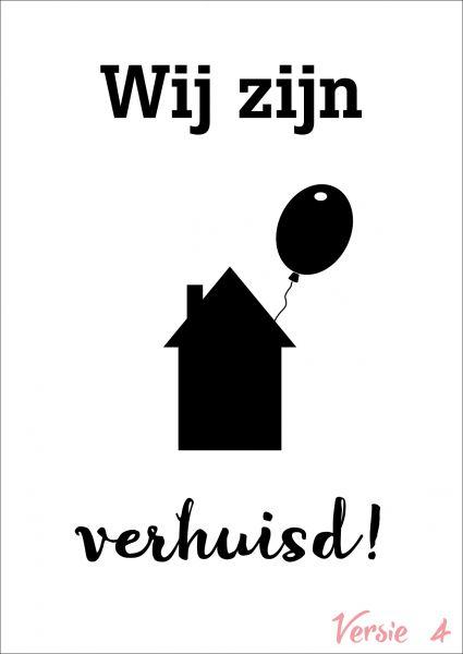 Verhuiskaart versie 4 met eigen tekst / verhuisbericht / housewarming