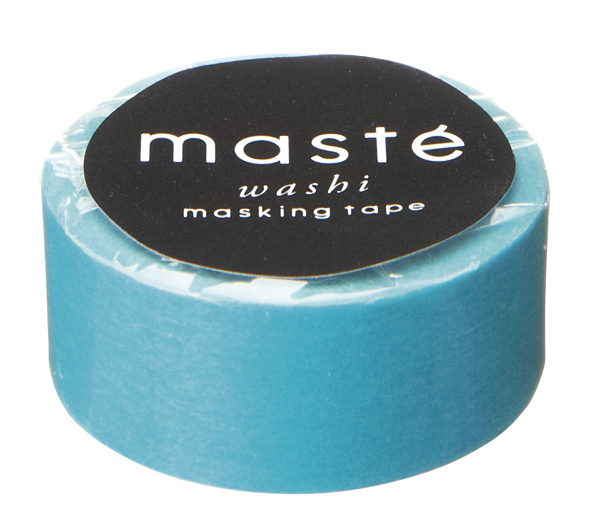 Masking tape in effen turquoise