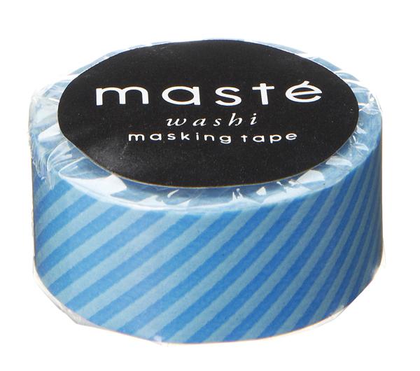 Masking tape in blauw gestreept