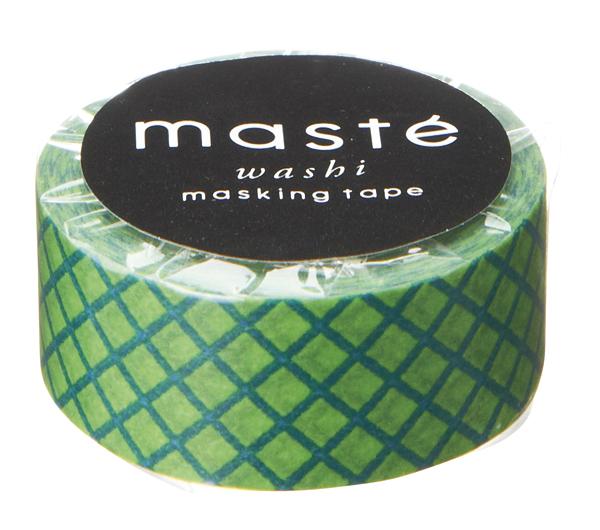 Masking tape in groen geruit