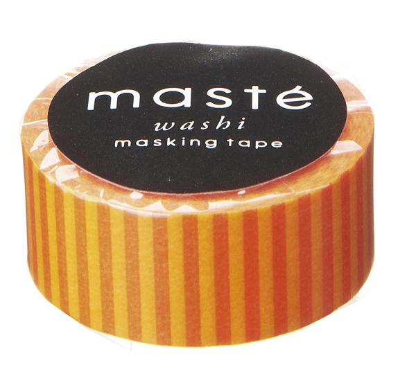 Masking tape in oranje gestreept