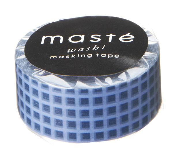 Masking tape in blauw geruit