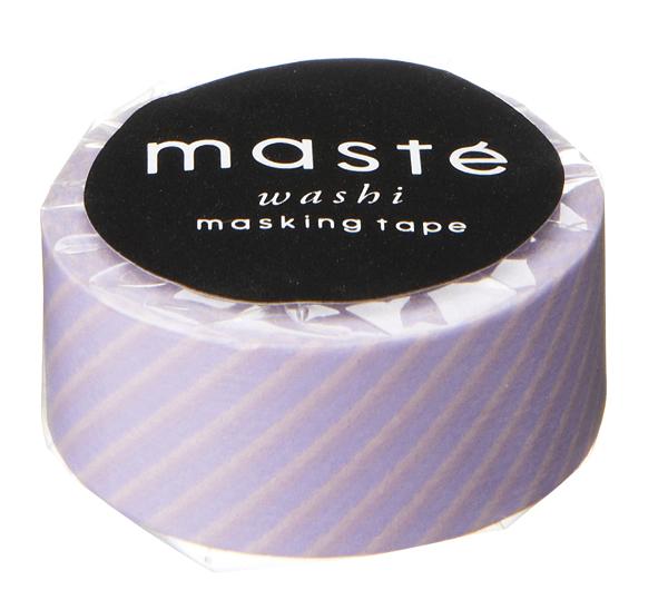Masking tape in lavendel streep