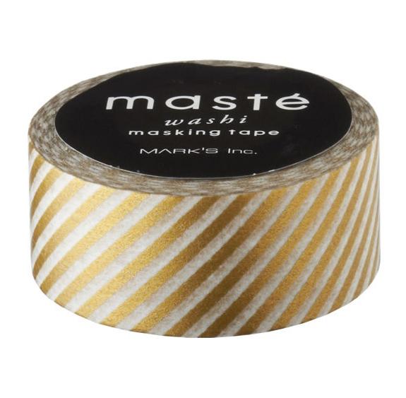 Masking tape in goud gestreept
