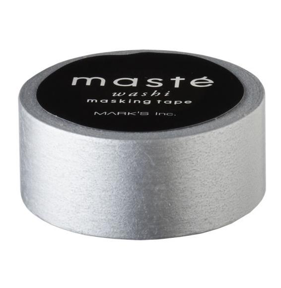 Masking tape in effen zilver