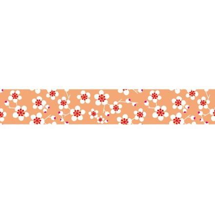 Maste masking tape zalmrose met bloemetjes