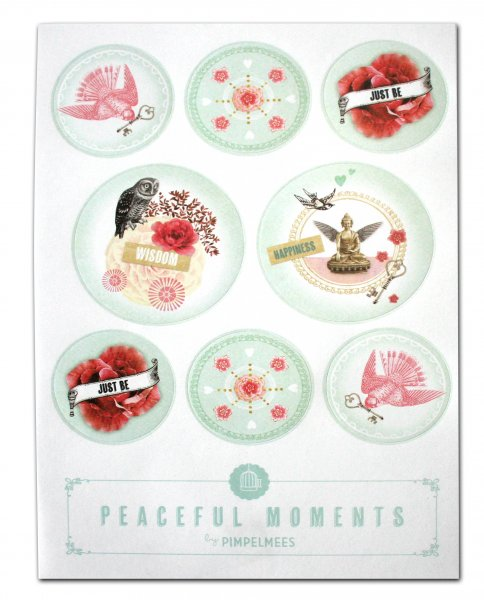 "Pimpelmees stickers ""Peaceful moments"""